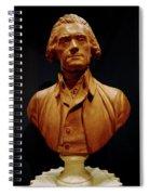 Bust Of Thomas Jefferson  Spiral Notebook