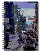 Busy  City Street Spiral Notebook