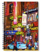 Busy Downtown Street Spiral Notebook