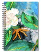 Busy Gardenias Spiral Notebook