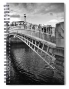 Busy Ha'penny Bridge 2 Bw Spiral Notebook
