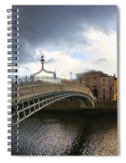 Busy Ha'penny Bridge 4 Spiral Notebook