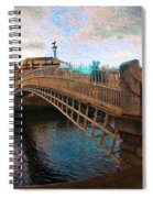 Busy Ha'penny Bridge  Spiral Notebook
