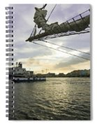 Busy Ship Channel At Sunset Spiral Notebook