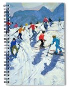 Busy Ski Slope Spiral Notebook