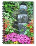 Butchart Gardens Waterfall Spiral Notebook