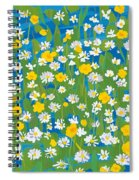 Buttercups And Daisies Spiral Notebook