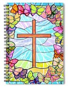 Butterflies And Cross Spiral Notebook