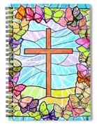 Butterflies And Cross Spiral Notebook