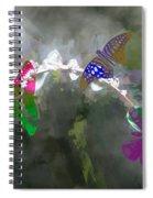 Butterflies And Dew Spiral Notebook