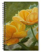 Butterfly Among Yellow Flowers Spiral Notebook