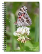 Butterfly And Bugs On Clover Spiral Notebook