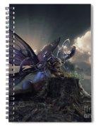Butterfly And Caterpillar Spiral Notebook