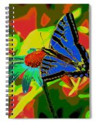 Butterfly Blues Spiral Notebook
