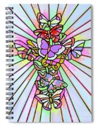 Butterfly Cross Spiral Notebook