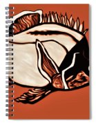 Butterfly Fish In Watercolor Spiral Notebook