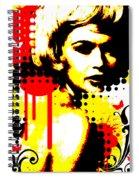 Butterfly Headcase Spiral Notebook