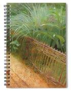 Butterfly In A Small Zen Sand Garden Spiral Notebook