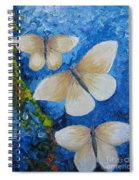 Butterfly In Blue 4 Spiral Notebook