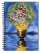 Butterfly In Lightbulb Spiral Notebook