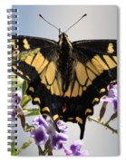 Butterfly In My Garden Spiral Notebook