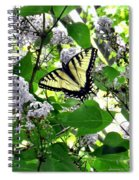 Butterfly In The Lilac No. 1 Spiral Notebook