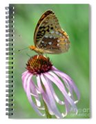 Butterfly In The Wind Spiral Notebook