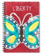 Butterfly Liberty Spiral Notebook