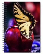 Butterfly On Apple Spiral Notebook