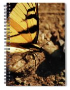 Butterfly On The Rocks Spiral Notebook