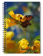 Butterfly Pollinating Flowers  Spiral Notebook