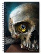 Butterfly Skull Spiral Notebook