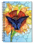Butterfly Sunday After The Rain Spiral Notebook