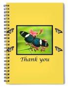 Butterfly Thank You Card Spiral Notebook