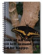 Butterfly Thing Of Beauty Spiral Notebook