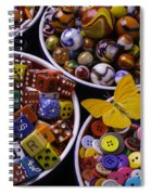 Butterfly With Bowls Spiral Notebook