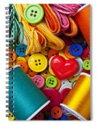 Buttons And Thread Spiral Notebook