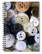 Buttons In Grunge Style Spiral Notebook