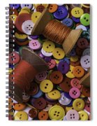 Buttons With Thread Spiral Notebook