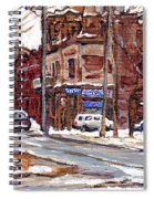 Buy Original Paintings Montreal Petits Formats A Vendre Scenes De Pointe St Charles Cspandau Artist Spiral Notebook
