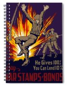 Buy War Stamps And Bonds Spiral Notebook