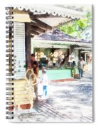 Buying Items In These Shops On The Street Spiral Notebook
