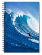 Buzzy Kerbox Surfing Big Spiral Notebook