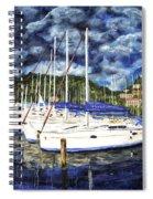Bvi Sailboats Painting Spiral Notebook