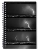 Bw Lightning Thunderstorm Sequence Spiral Notebook