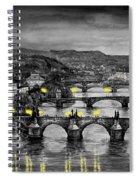Bw Prague Bridges Spiral Notebook