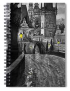 Bw Prague Charles Bridge 03 Spiral Notebook