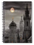 Bw Prague City Of Hundres Spiers Spiral Notebook