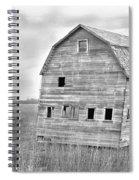 Bw Rustic Barn Lightning Strike Fine Art Photo Spiral Notebook