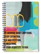By Prayer And Petition- Contemporary Christian Art By Linda Wood Spiral Notebook